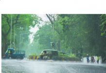 heavy rain due to low pressure