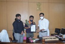 student felicited