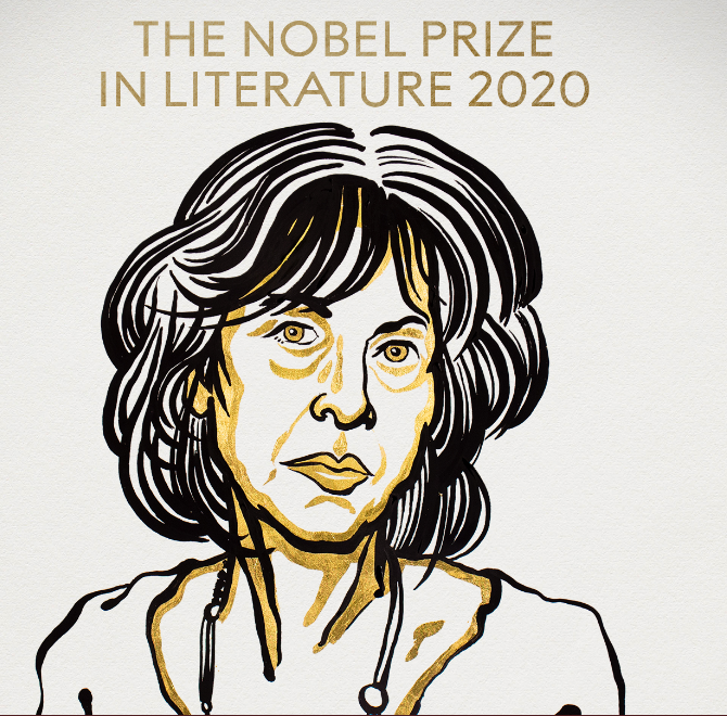 """The 2020 Nobel Prize in Literature is awarded to the American poet Louise Glück """"for her unmistakable poetic voice that with austere beauty makes individual existence universal."""