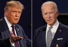 trump and Bidden debate